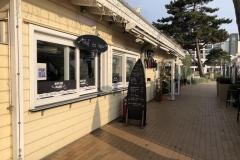 Promenade in Scharbeutz bei Cafe Wichtig