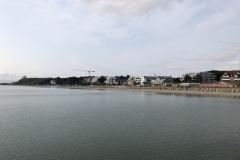 Strand in Scharbeutz von der Seebrücke aus