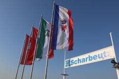 Scharbeutz Flaggen auf der Seebrücke