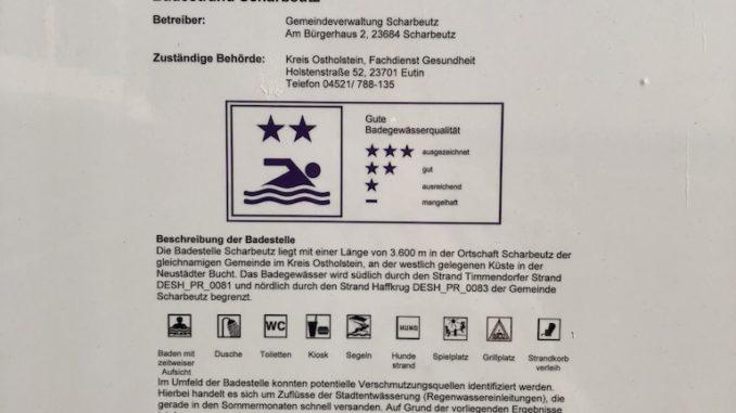 Badwasser Qualität in Scharbeutz